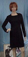 CHANEL designer little black long sleeved dress, sz. 36 Fr.; 2-4 US; Authentic!!