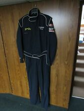 SIMPSON RACING SUIT JUMPSUIT ONE PIECE NAVY BLUE MEN'S SIZE MEDIUM INTERSPORT
