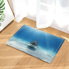 Door Mat Bathroom Rug Bedroom Carpet Bath Mats Shark is looking for food 40*60cm