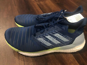 New Adidas Mens Solar Boost M Running Athletic Shoes Size 11 Blue