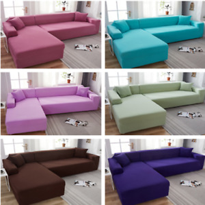 1/2/3/4 Seater Modern Polyester Elastic Sofa Cover Stretch Slipcover  Protector