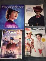 4 Mary Poppins Magazines Excellent Condition - People Life D23 Disney