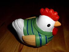 Keramikhuhn Hühner Huhn Hahn Osterkücken, bunt Henne klein