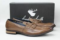 GOODWIN SMITH Men's Liberty Tan Brown Fringed Loafer Shoes UK12 EU47 NEW