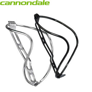 Cannondale GT40 Lightweight Alloy Bottle Cage - Silver, Black 40g