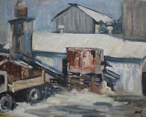 Diana Margaret Perowne- 1934-2020 - Industrial scene - stunning painting