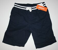 New Gymboree Boys Navy Blue Camp Shorts Size 5 Year Pull On NWT Jawsome Line