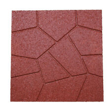 """RevTime 6 Pack Dual-side Garden Rubber Paver 16""""x16"""",Safety Rubber Tile Red"""
