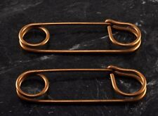 """Lot of 2 Nos 3 1/4"""" x 1"""" Very Rare Vintage Large Blanket or Kilt Pins Brass"""