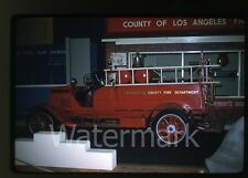 1958 kodachrome Photo slide Vintage Fire Truck #1 Los Angeles CA