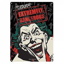 Batman The Joker Extremely Dangerous small metal sign 210mm x 150mm (hb)