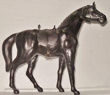 Statua cavallo in pelle color testa di moro - cm.  33x29,5x11- peso gr. 0,745