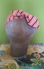 Headband Head Scarf Hair Wrap Bow Rockabilly Vintage Retro Colour Stripy Stripe