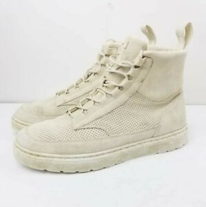 Dr. Martens Men's Kamar Combat Boot Size 13 Lace up white Suede leather