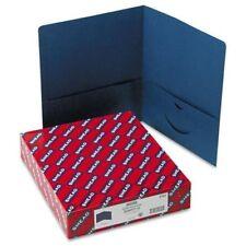 Smead 87854 Dark Blue Two Pocket Heavyweight Folders 975 X 11 100 Sheet