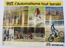 AFFICHE ORIGINALE concession MOTOBECANE 95 TT 1978 MOTOCONFORT MOBYLETTE cross