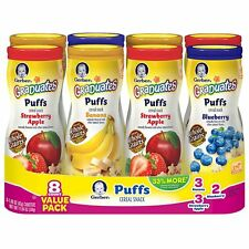 GERBER Graduates Puffs Variety 8 Pack Baby Cereal Snacks
