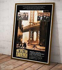 C'era una volta in America Poster Locandina Film Quadro Stampa su Pannello Mdf
