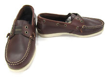 Sebago Boat Shoes Wharf Slip-On Loafers Brown Topsiders Size 8 EUR 41.5