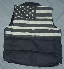 NEW Denim & Supply Ralph Lauren USA Flag Black Vest Sz Small  Ret $145.00 L@@K!