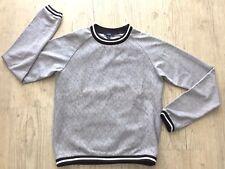 KIABI - Sweat gris dentelle, rayé noir/blanc - Taille 12 ans - TBE !!!