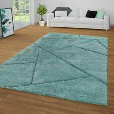 Modern Living Room Rug Shaggy Long Pile Fluffy Carpet Soft Mats Grey Pink Teal