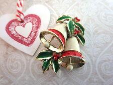 Glocken - Vintage Brosche Weihnachten Adventskalender x-Mas Schmuck Geschenk