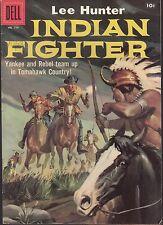 4-COLOR  #779 1957 DELL -INDIAN FIGHTER: LEE HUNTER WESTERN-YANKEE/ REBEL...FN+