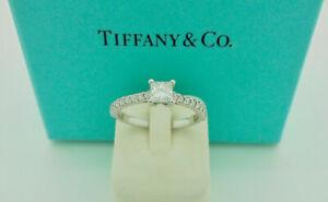 Authentic Tiffany & Co. Novo 0.26ct Princess Diamond Engagement Ring US5 $5,100