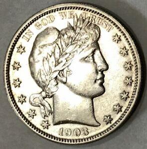 1903 Barber Half Dollar AU Details