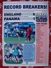 England 6 Panama 1 - 2018 World Cup - souvenir print