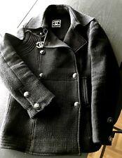 Chanel Boucle Jacke Schwarz Tweed Gr 36 Timeless net a porter
