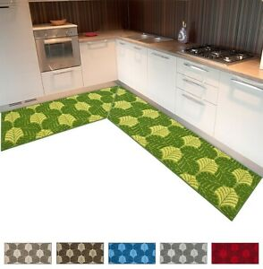 Carpet Kitchen Angular Runner Tailored per Meter Weaving Fern 3D Broadside