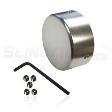 """Aluminum Rear Axle """"Double Nut"""" Cover for the Polaris Slingshot (Silver)"""