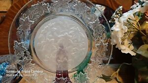 """80's Princess House Frosted Fantasia 10"""" Dinner Plates set 8-Crystal dinnerware"""
