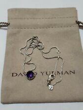 David Yurman Chatelaine Pendant Necklace with Amethyst