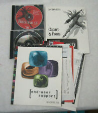 Macromedia Freehand 5.5 Macintosh 1995 Vintage Graphic design+clipart/fonts book