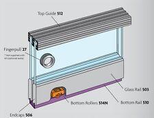 Henderson Zenith Z12 Glass Sliding Cabinet or Cupboard Door Track Kit 1200mm