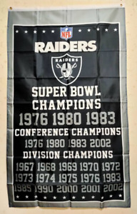 Oakland Raiders Champions Flag 3X5 FT NFL Banner Polyester FAST SHIPPING!!!