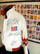 Rolling Stones Autographed Budweiser Budman Promo Jacket Steel Wheels Tour 1989