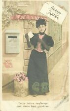 LOT 5 CARTES POSTALES FANTAISIE PORTRAITS FEMMES - THEME 1702