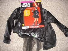 Star Wars Darth Vader Halloween Costume youth girls size M 8/10 Rubies 630125