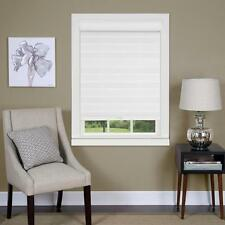 Celestial Sheer White Cordless Double Layered Shade Blinds  30 x 72