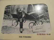 1955 Christmas Card Photo Cowboy W/Gun Hat Conestoga Wagon Turners Evansville IN
