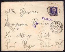 POSTA MILITARE 1941 Lettera da PM 70 per Scido (FM0)