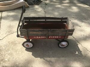 Vintage Radio Flyer Trav-ler Travler Wagon With Wood Sides