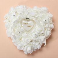 Wedding Rose HeartShaped Ring Box Bearer Holder Cushion Pillow Gift Personalized