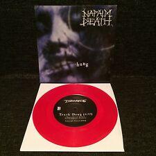 "Napalm Death - Hung 7"" RED VINYL Earache Grindcore Death Metal Grind"