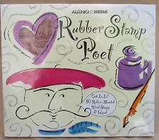 80 Rubber-Mounted Word Stamps & Ink Pad All Night Media Rubber Stamp Poet