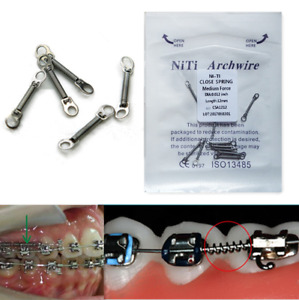 20 Pcs Dental Orthodontic Niti Alloy Closed Coil Spring 6/9/12mm Light Force